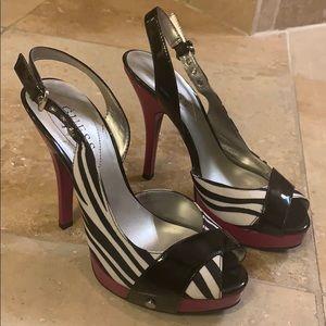 Guess Zebra Print Heels